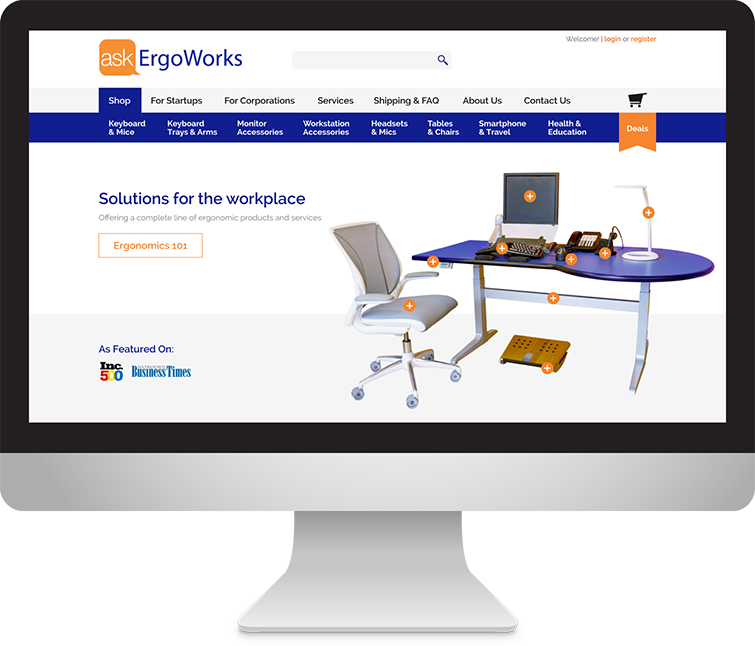 Ask ErgoWorks Ecommerce Design