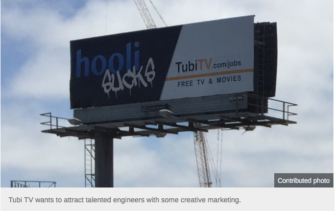 'Hooli Sucks:' Real Silicon Valley Company Creates Offbeat Billboards to Lure Engineers